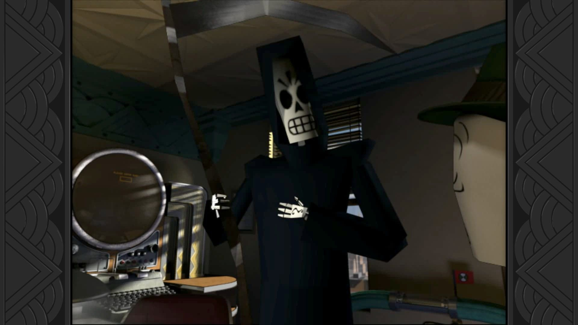 My name is Manny Calavera. I'm your new travel agent.