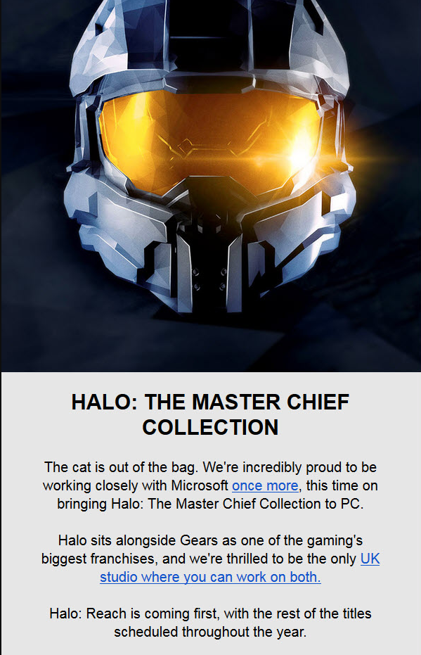 Стали известны сроки выхода Halo: The Master Chief Collection на ПК